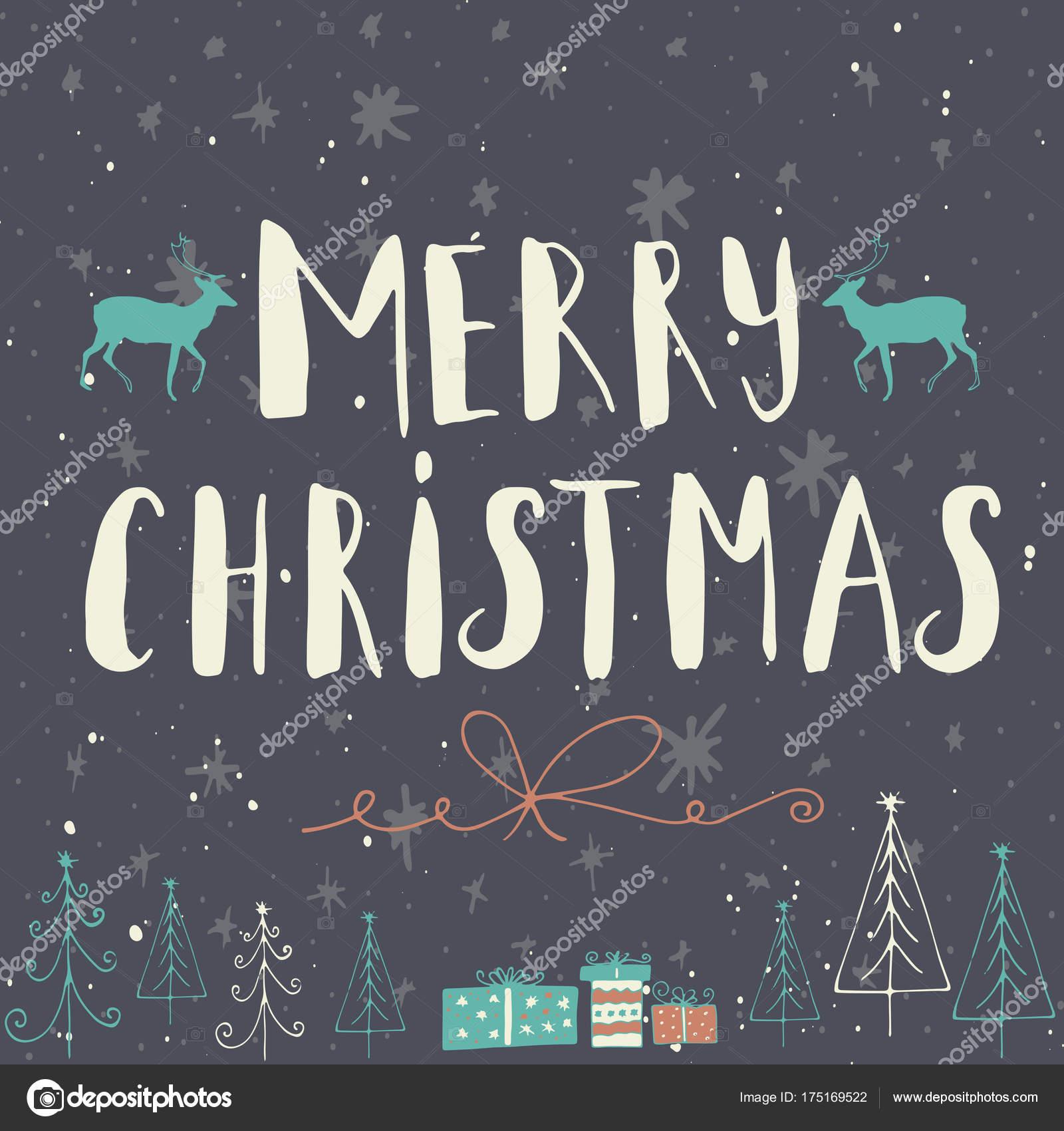 étiquette Texte Joyeux Noël Sur Fond Hiver Avec Neige Des