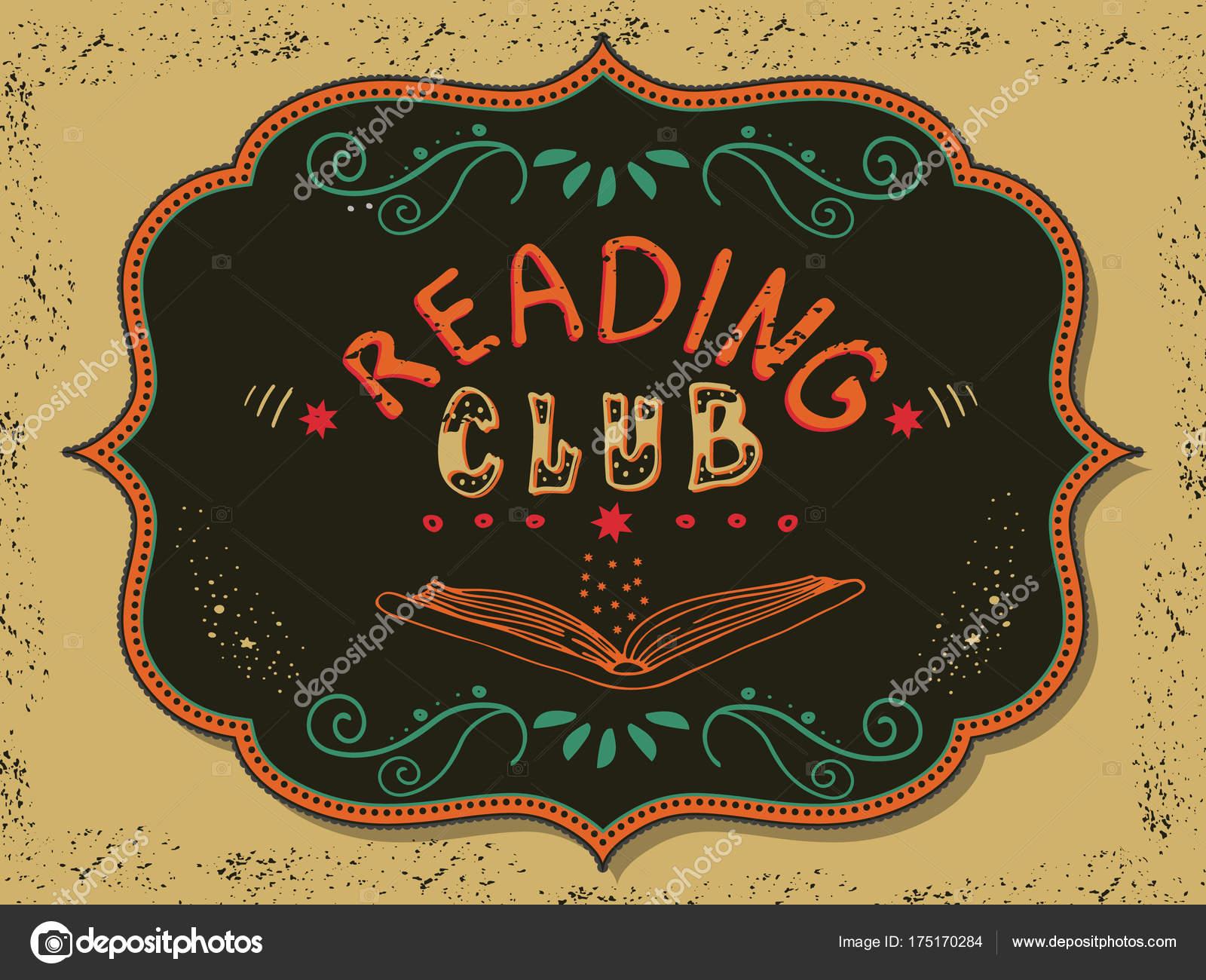 Vektor Illustration Mit Handgezeichneten Schriftzug Club Anmeldung ...