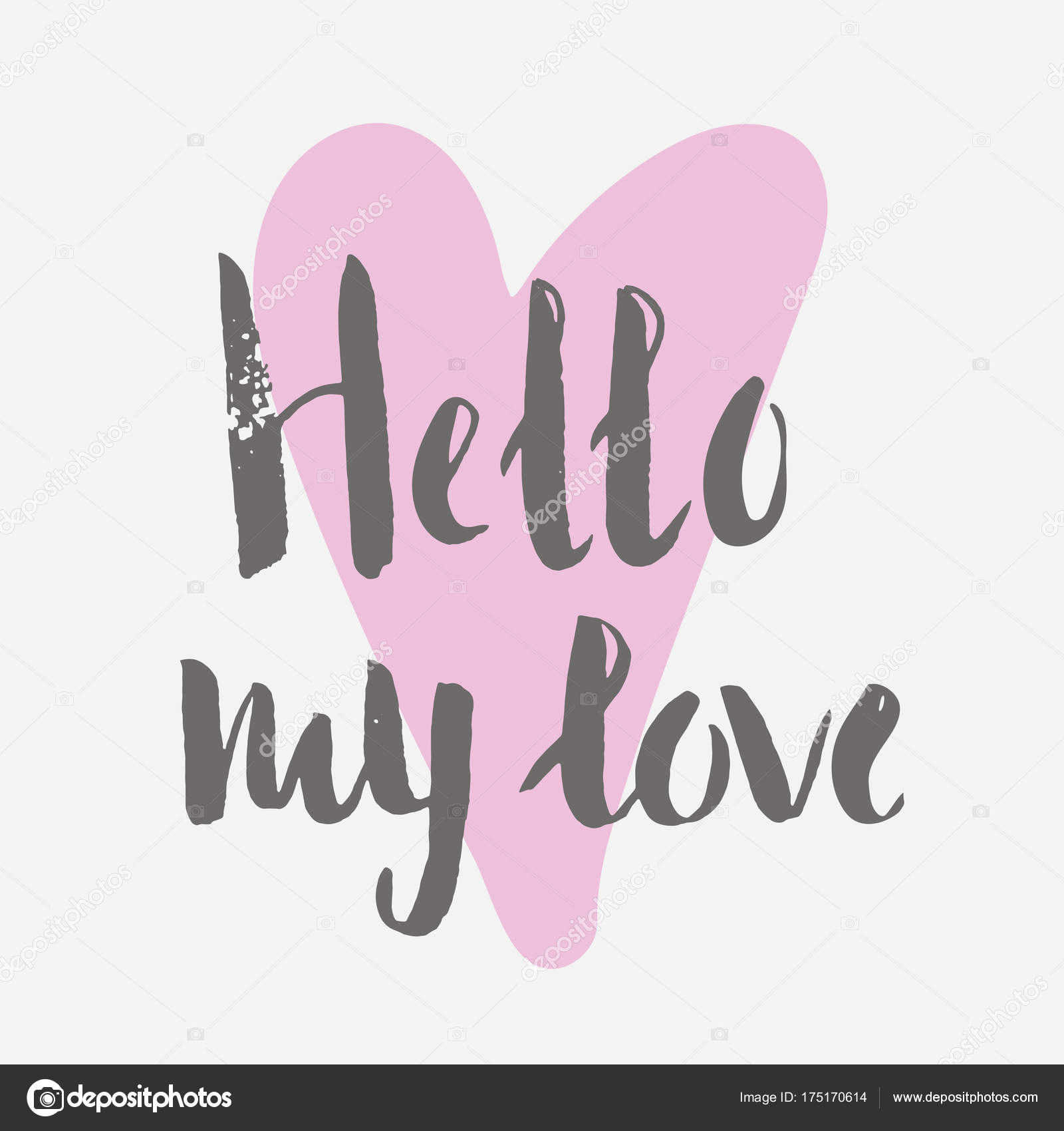 Colorful Valentine Day Card Template Vector Illustration Greeting
