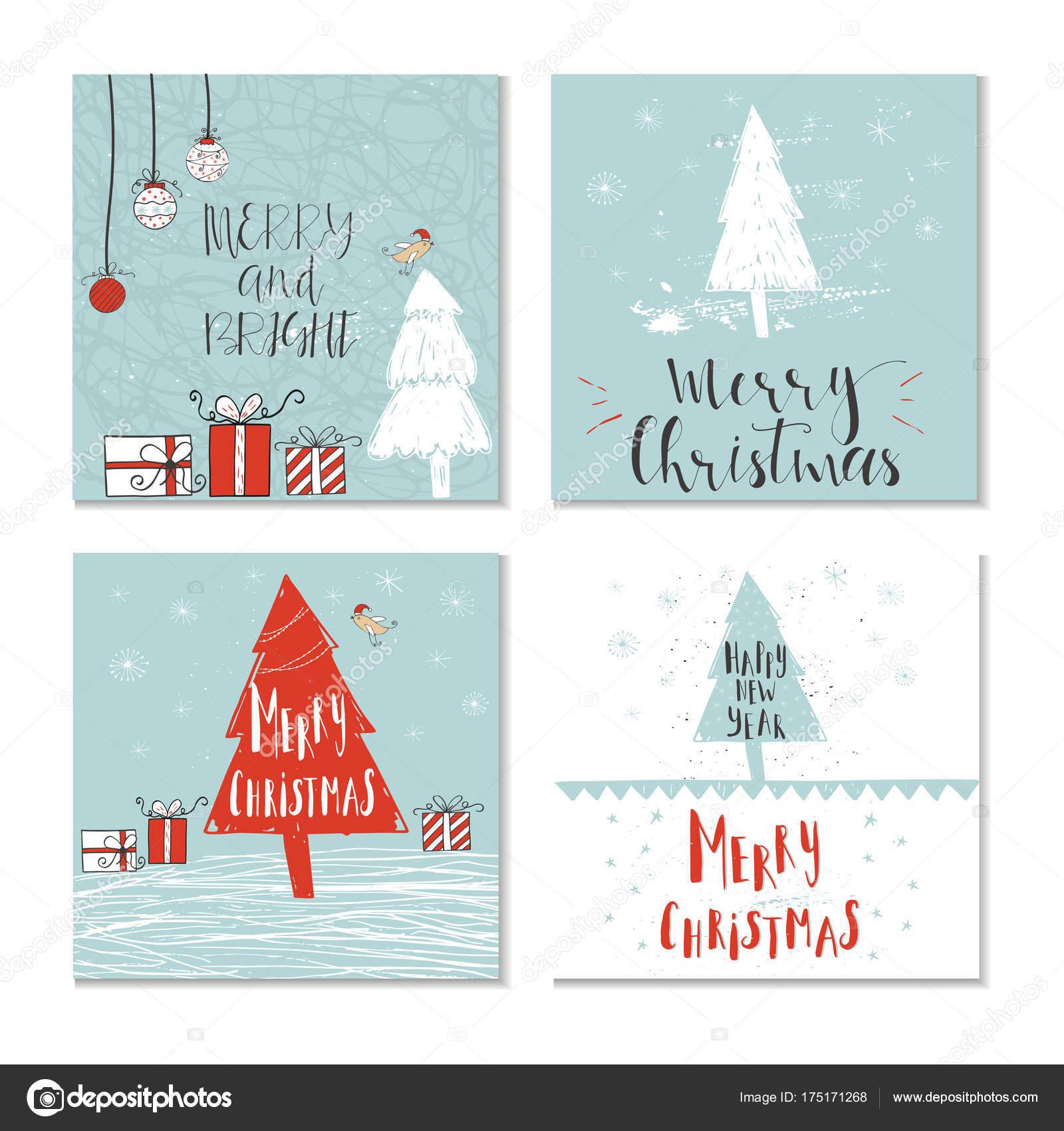 set of Christmas greeting cards — Stock Vector © TanyaSun #175171268