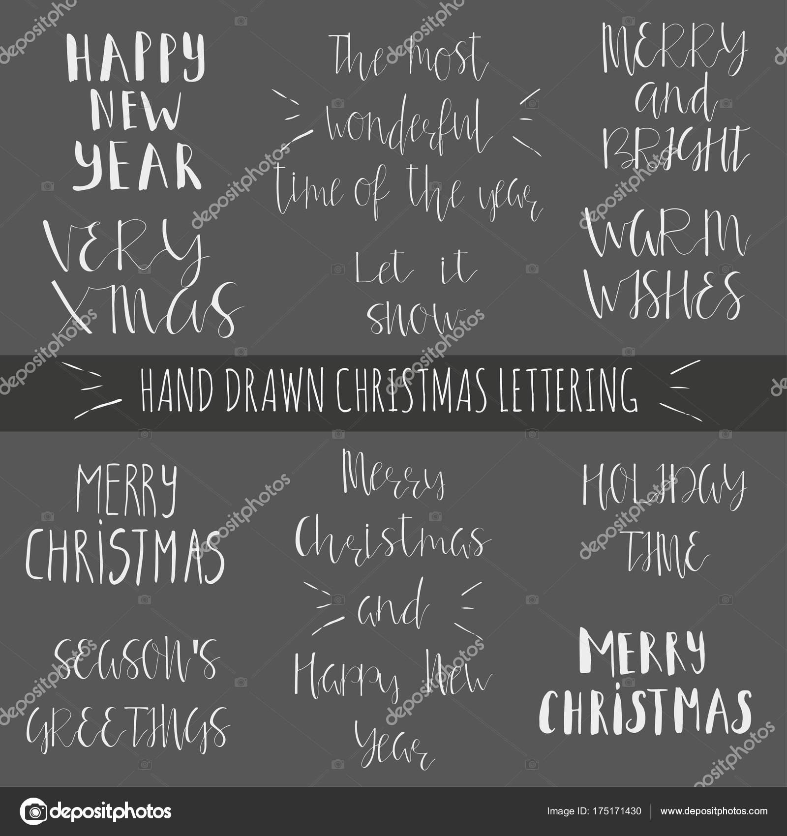 Neujahrs Und Weihnachtswünsche.Weihnachtswünsche Für Urlaub Stockvektor Tanyasun 175171430