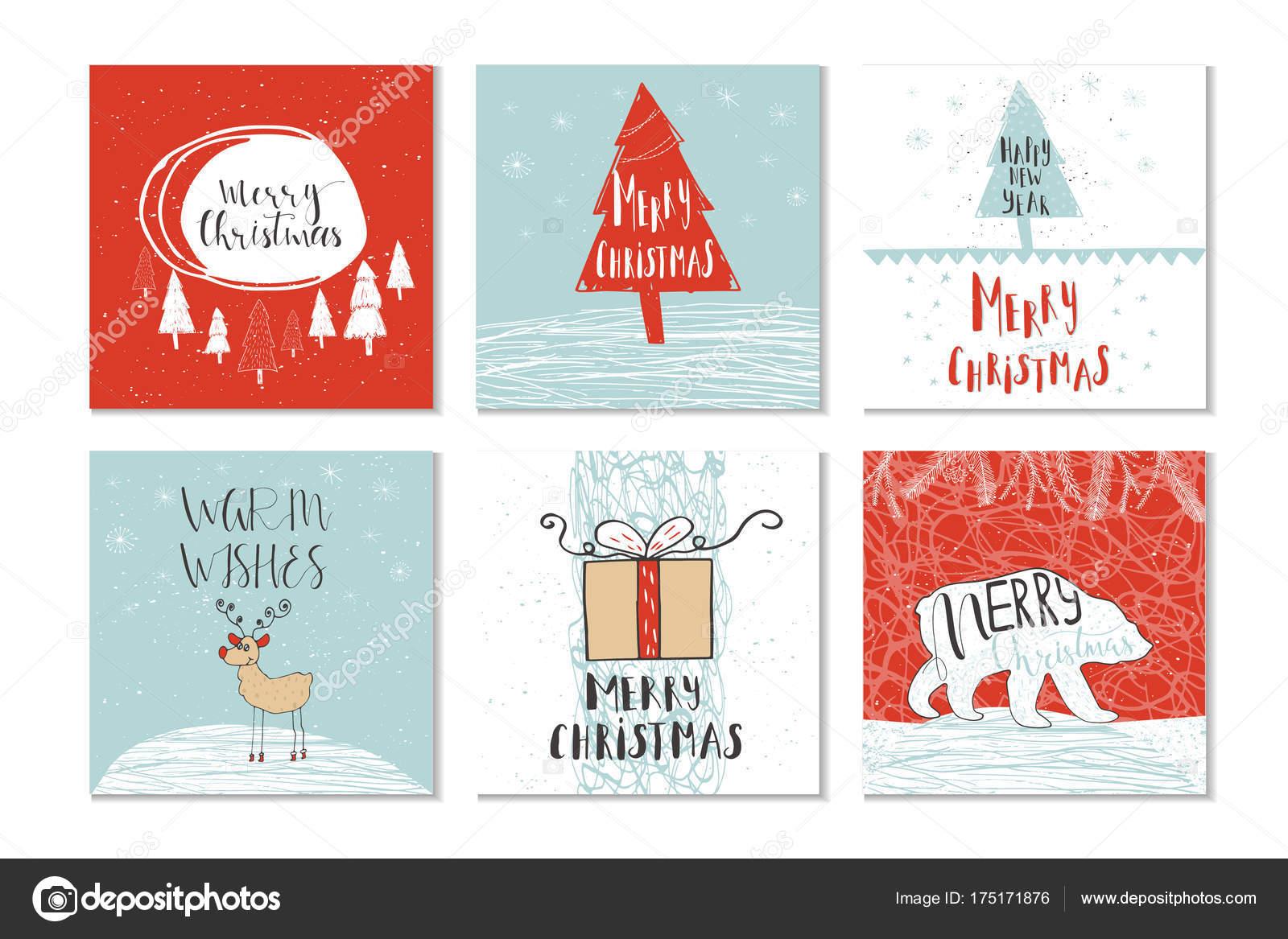 set of Christmas greeting cards — Stock Vector © TanyaSun #175171876