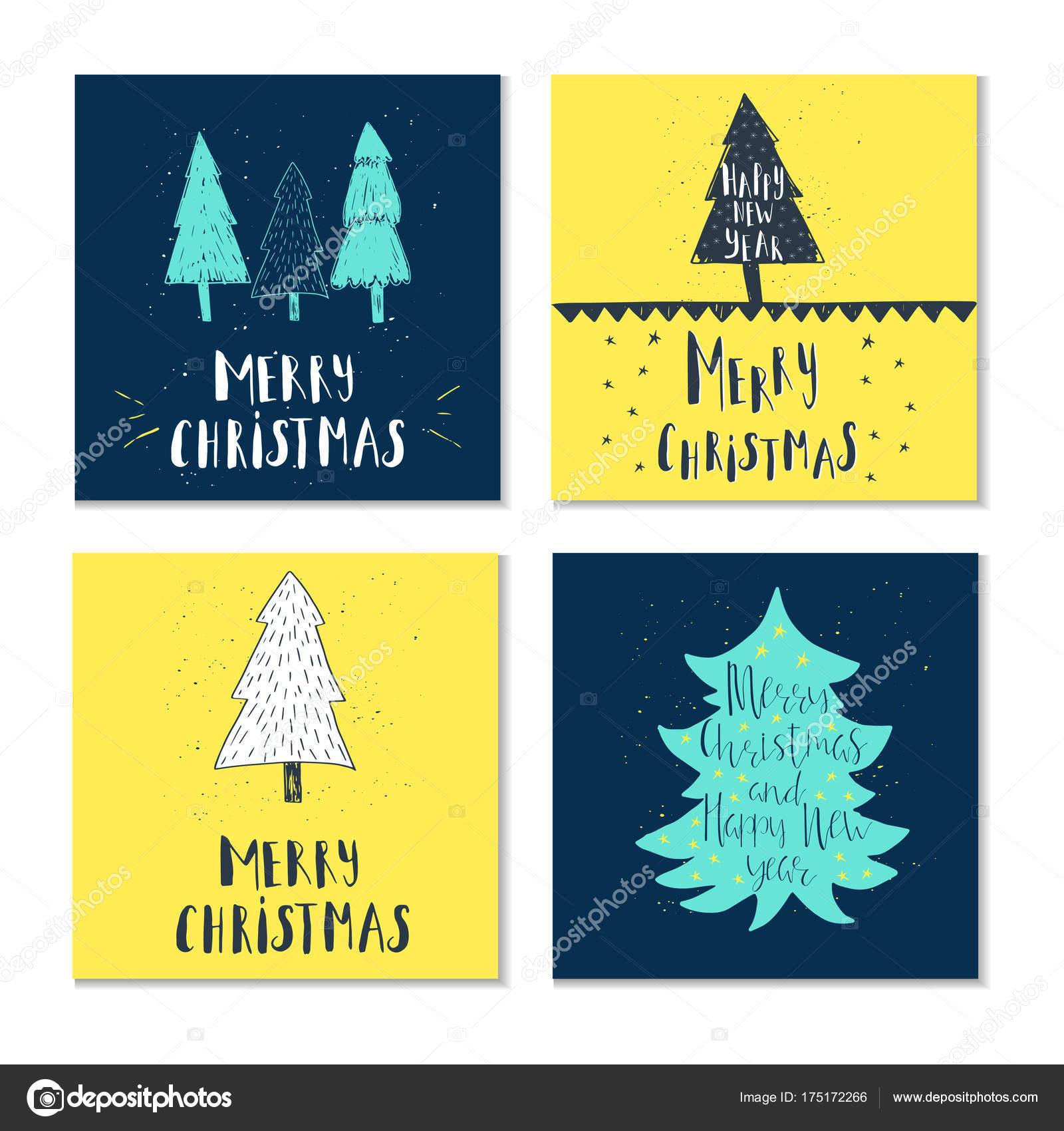 Set Of Christmas Greeting Cards Stock Vector Tanyasun 175172266