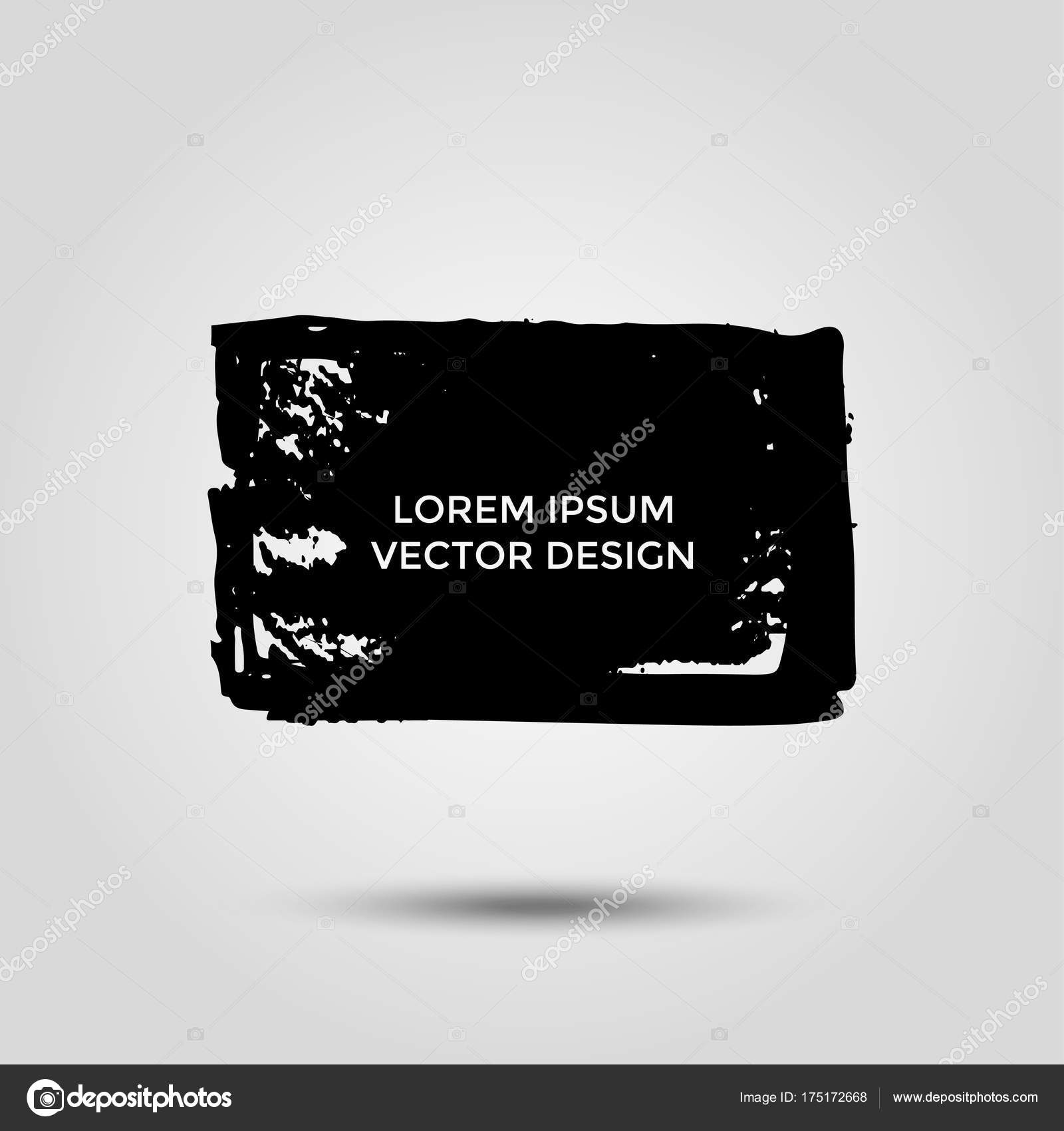 Hand Drawn Grunge Brush Square Grey Background Frames Text Quote ...
