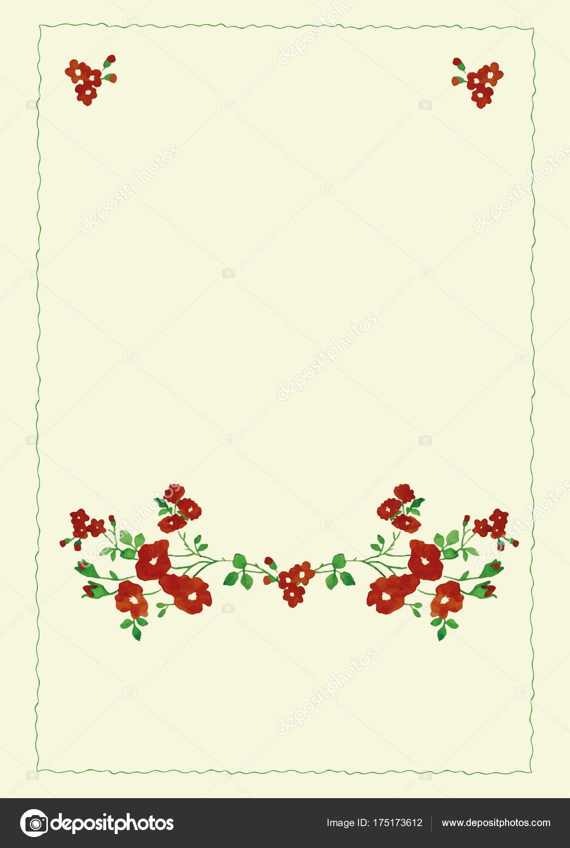 Einzigartigen Rahmen Für Hochzeit Einladungskarten Mit Aquarell ...