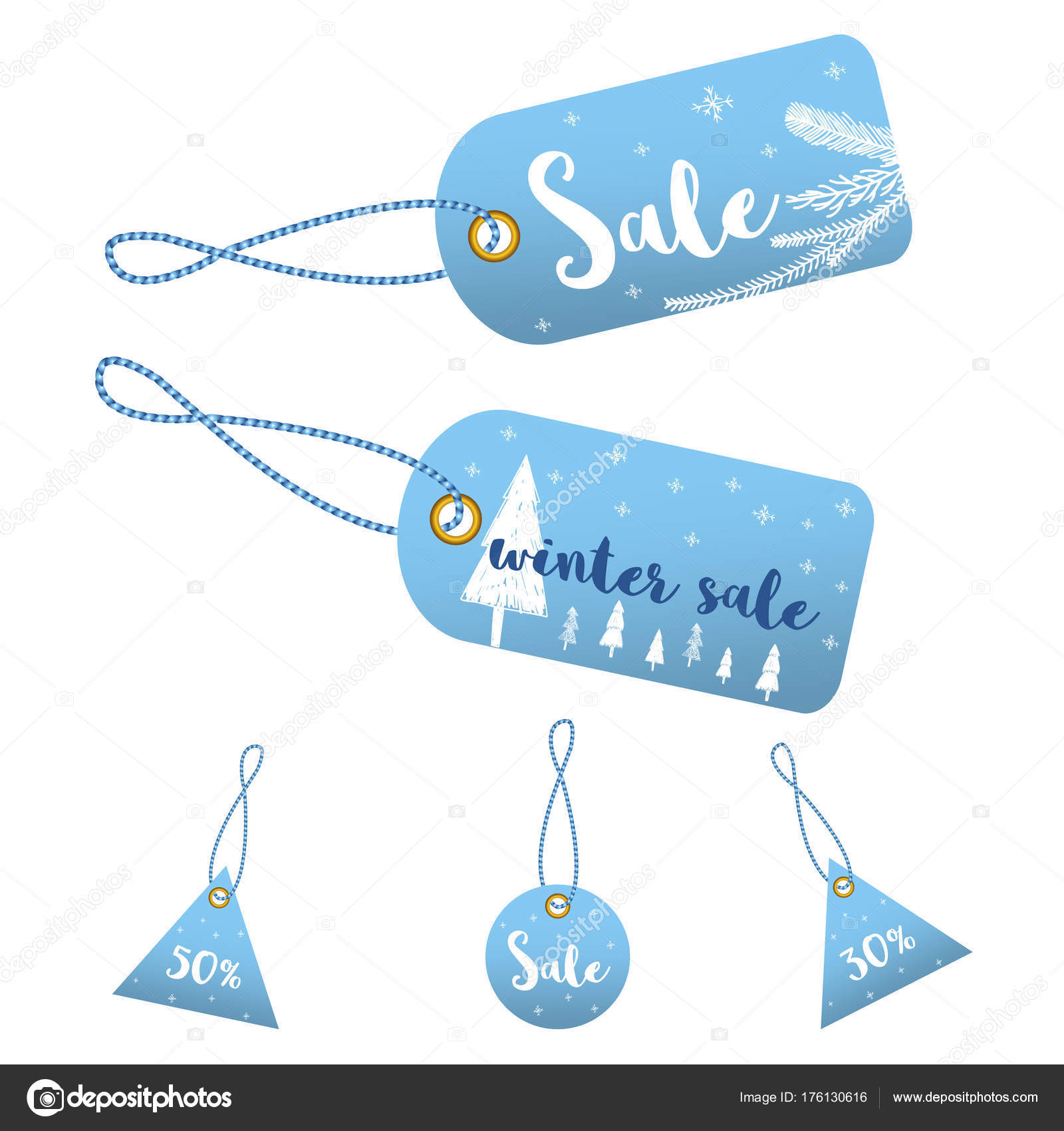 Winter Social Media Sale Banners Ads Web Template Collection