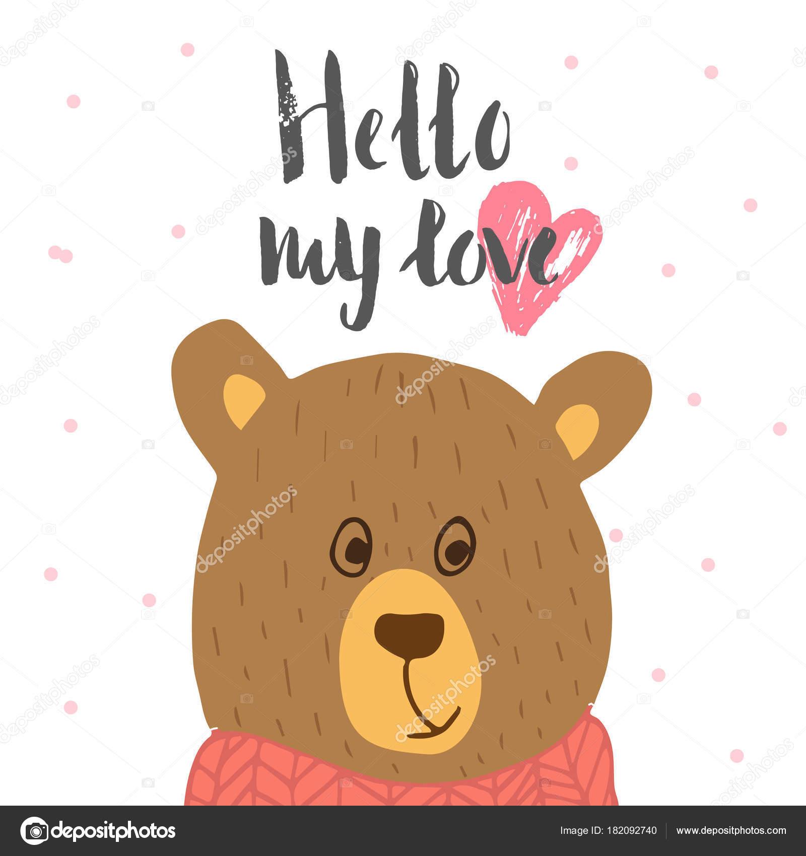 Schönen Valentinstag Geschenk Karte Mit Teddybär Herzen Und