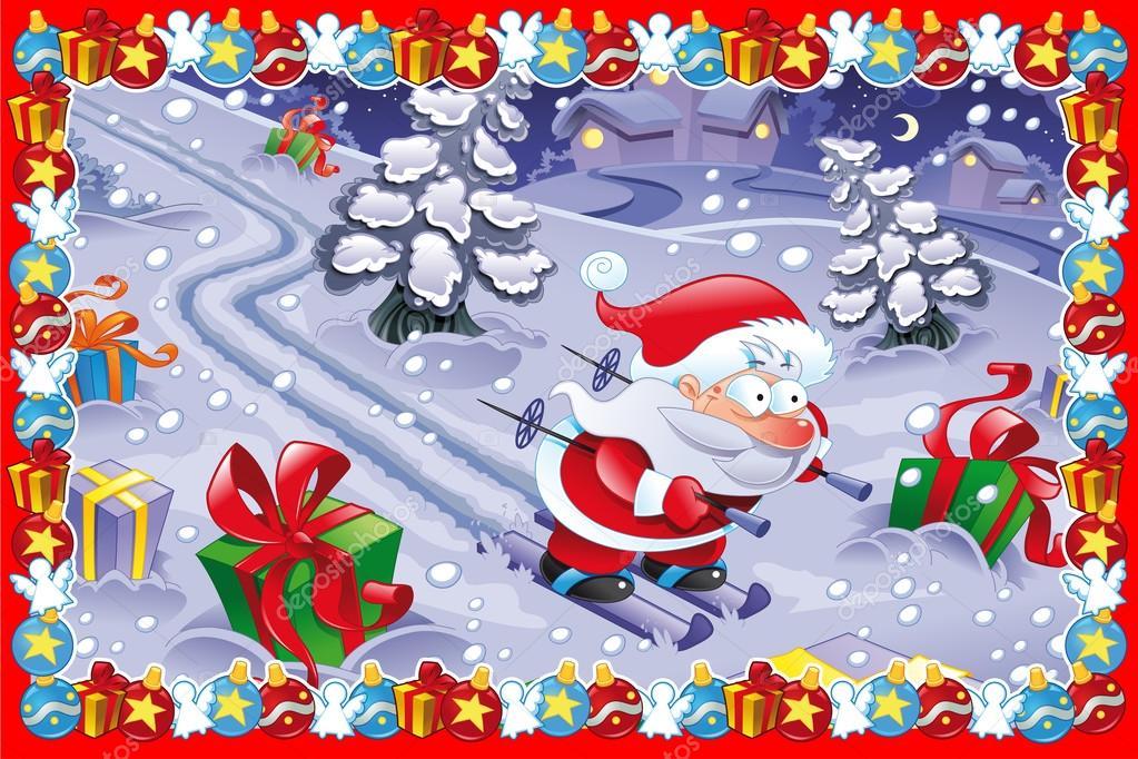 Carte De Noel Droles.Carte De Noël Drôles Image Vectorielle Ddraw 127741760