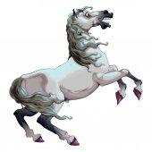 Ijedős fehér ló