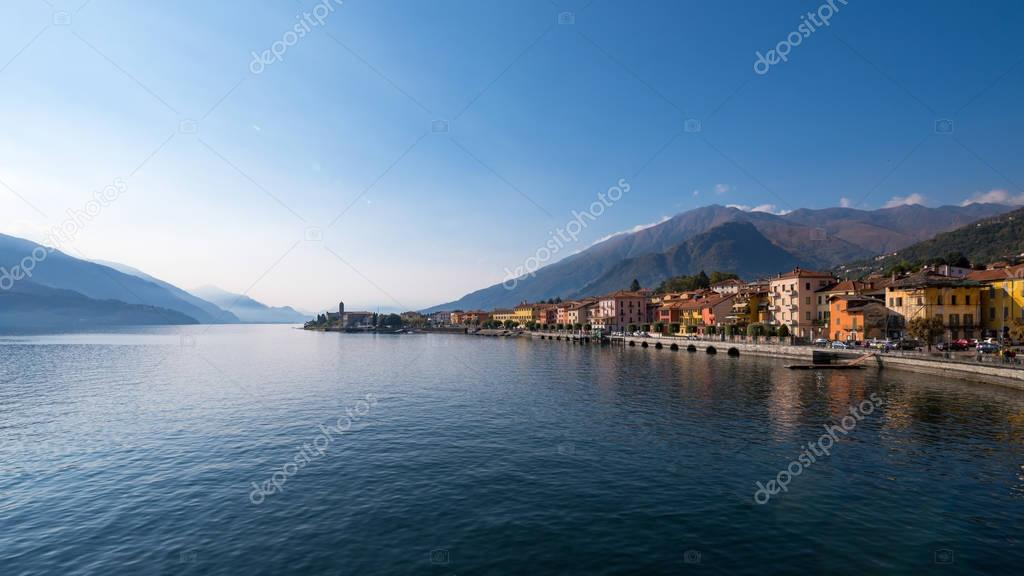 View of Gravedona on Lake Como in Italy