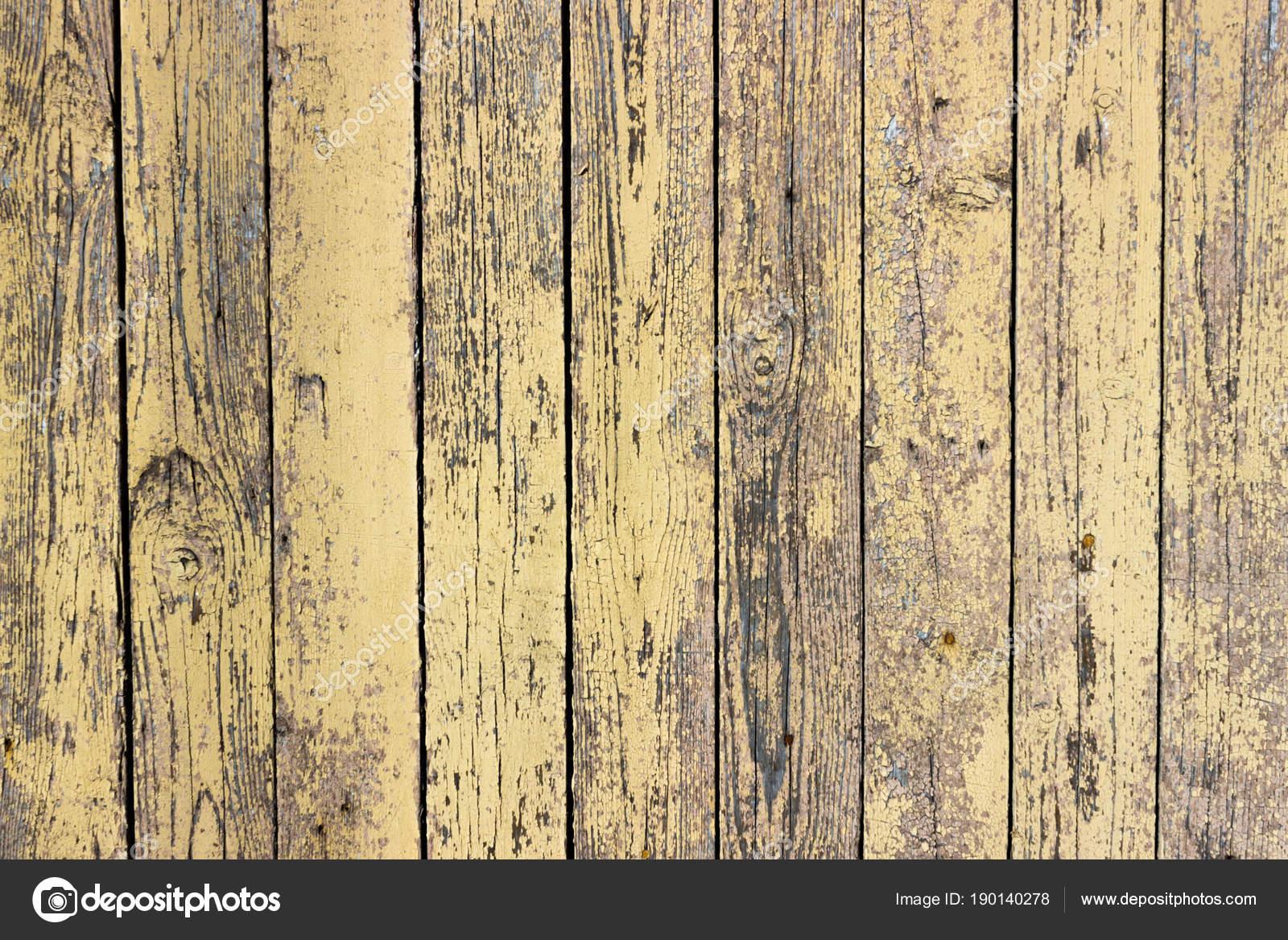 Fond De Planches De Bois Avec Une Peinture De Couleur Moutarde