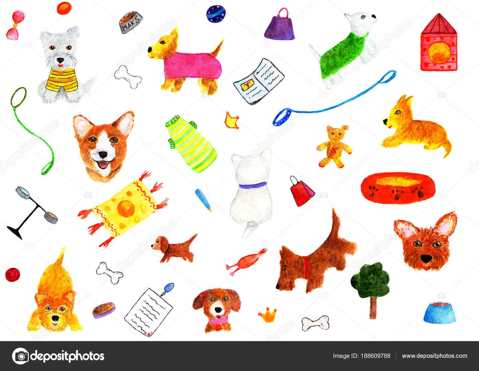 3 animales con cada letra del abecedario   Patrón Con Perros Objetos ...