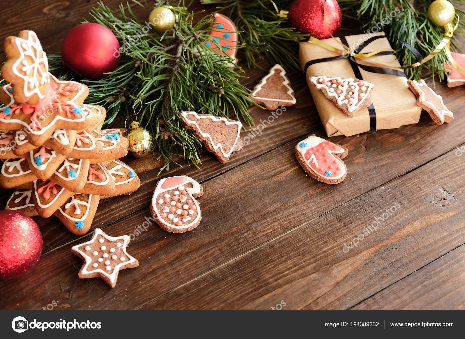 Decoration Biscuit Noel.Biscuit De Gingembre Et De La Décoration De Noël