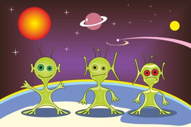 Extraterrestrials of other planets