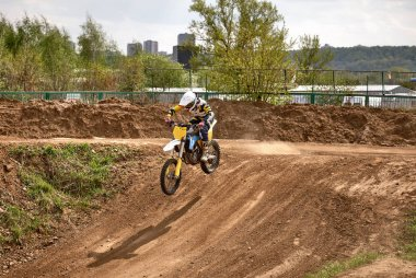Motocross training in Moscow at the Technical Sports Stadium