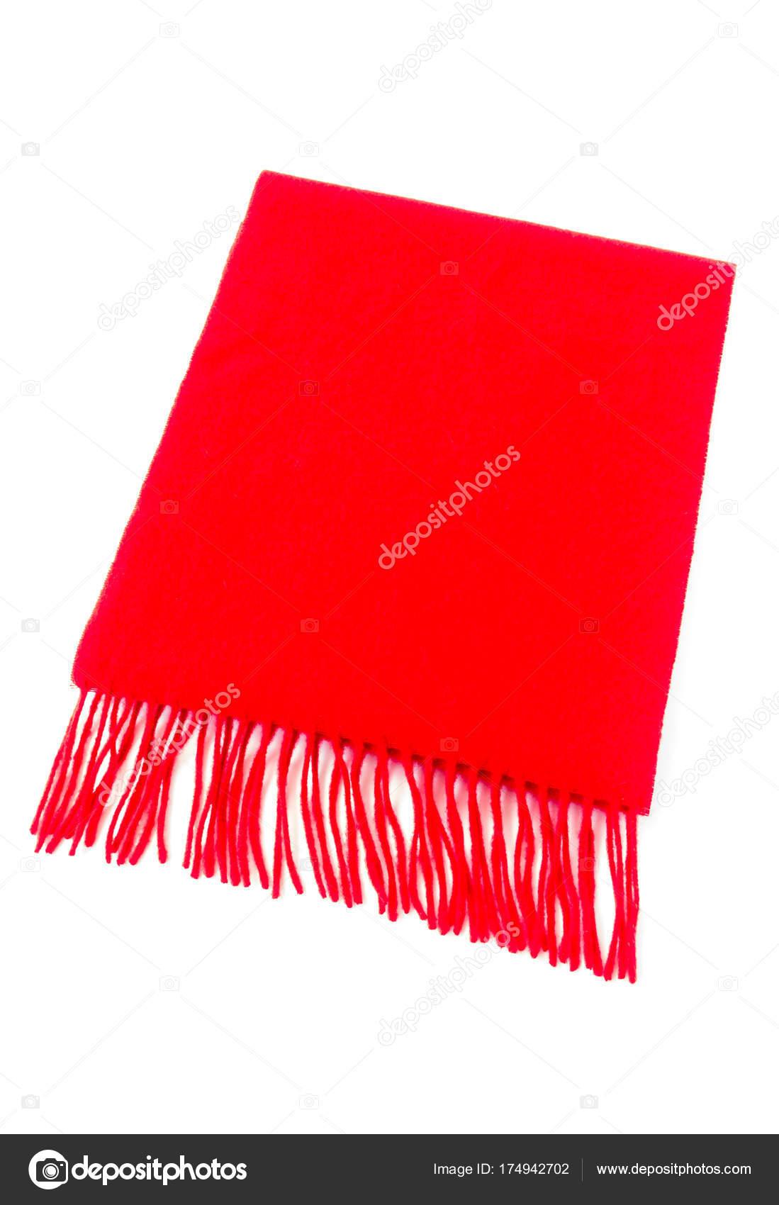 Luxusní kašmírový šál v červené barvě — Stock Fotografie ... 52e847fb1b