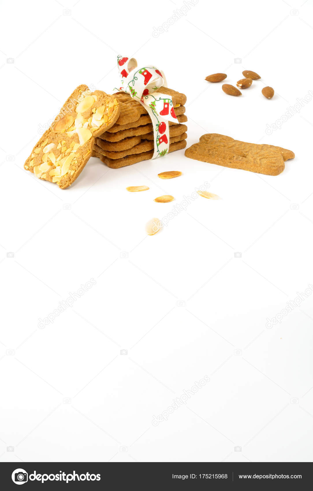 Stack Of Spekulatius With Almonds Spiced Biscuits With Almonds