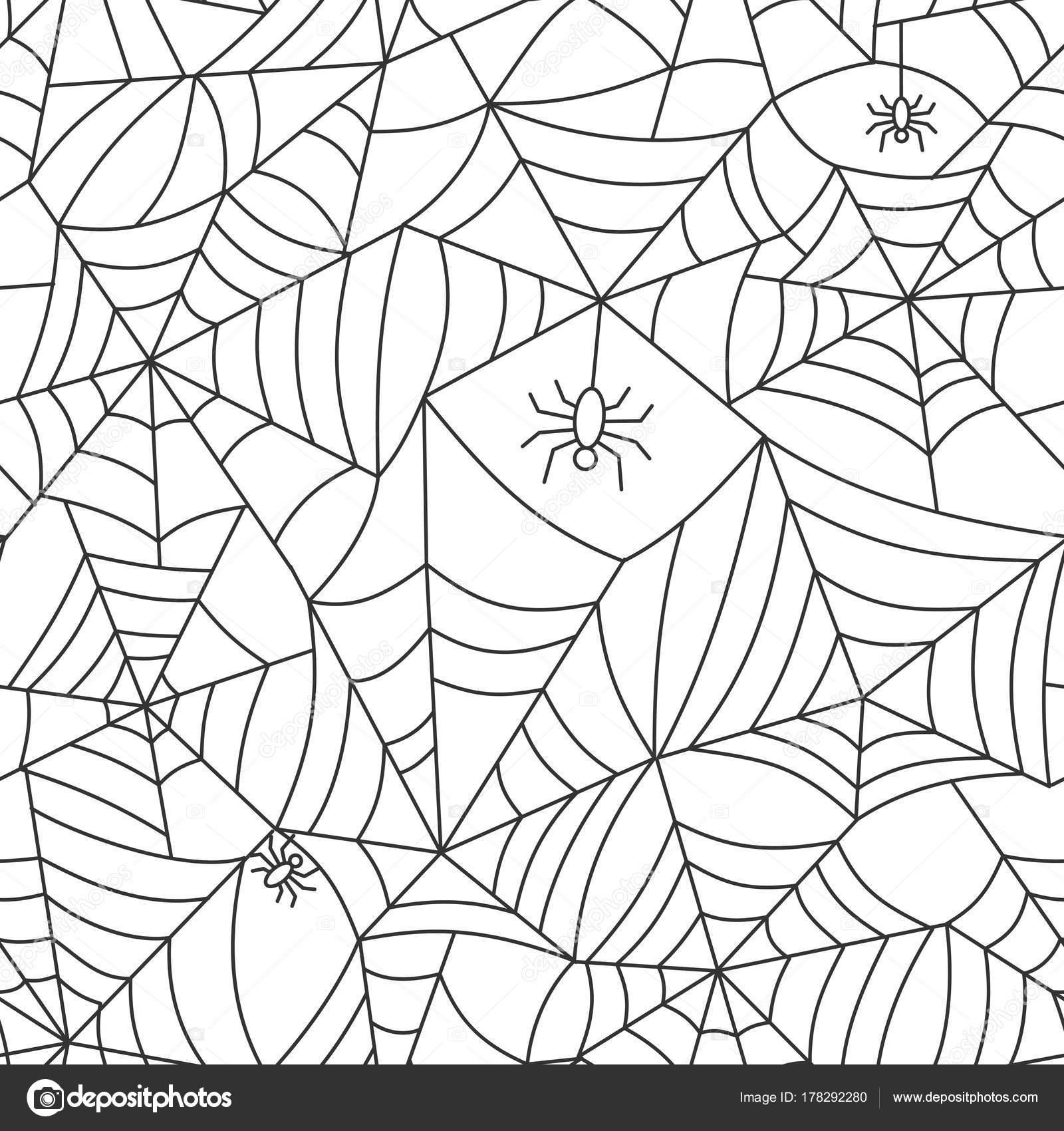 Spider Web nahtlose Muster — Stockvektor © Suesse #178292280