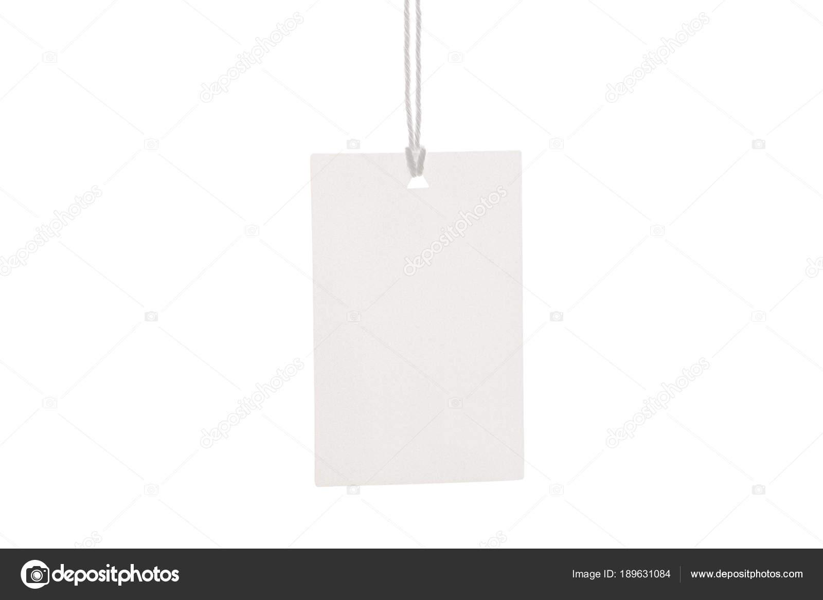 Kleidung Label Tag leeren weißen mockup — Stockfoto © ollzha #189631084