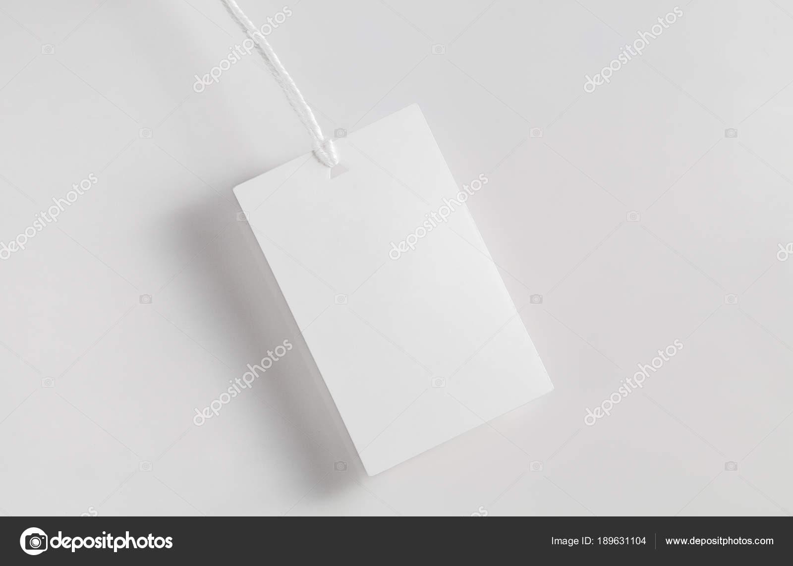 Kleidung Label Tag leeren weißen mockup — Stockfoto © ollzha #189631104