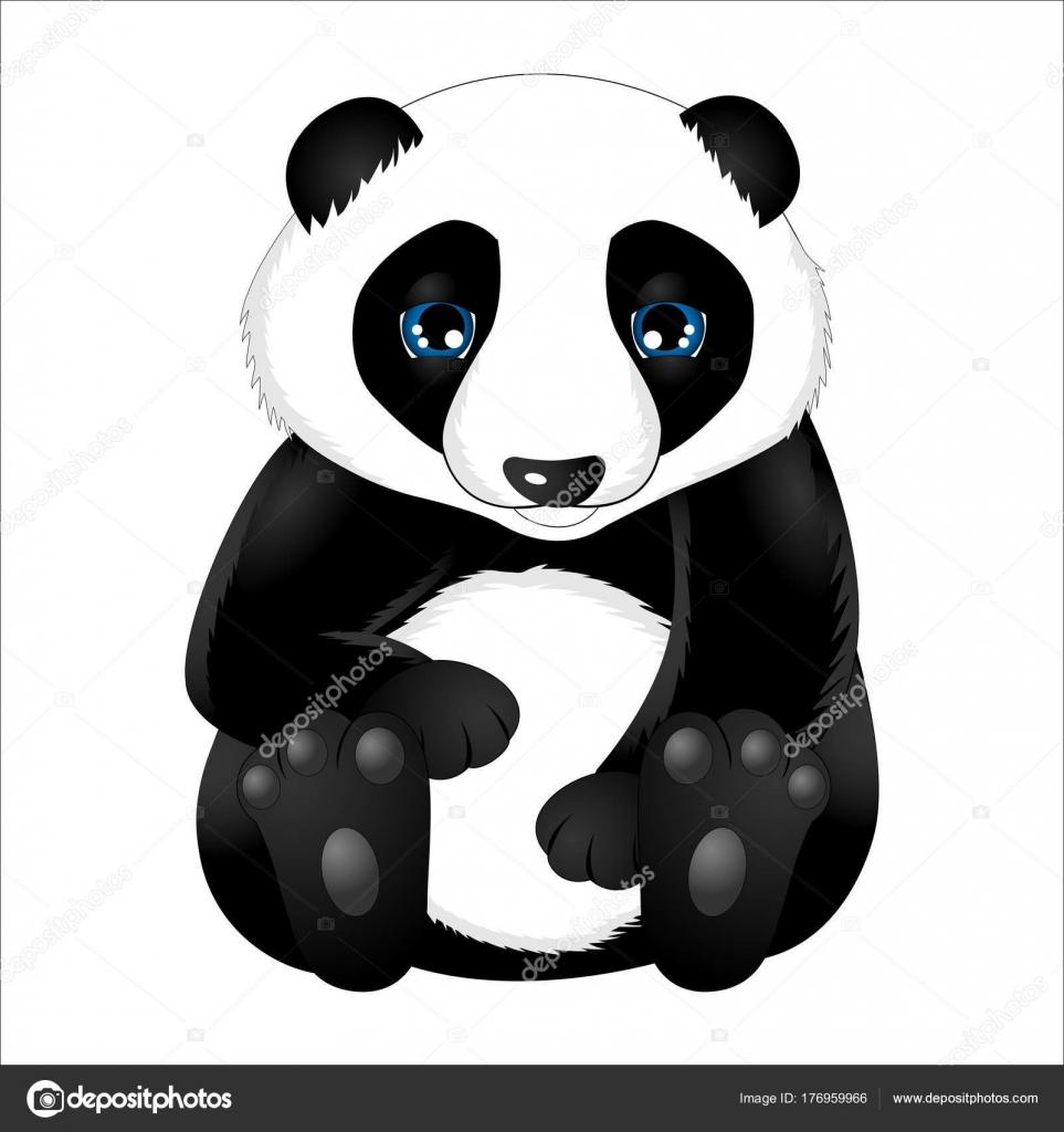 Panda Bebe Mignon Dessin Anime Image Vectorielle Talissa1 C 176959966