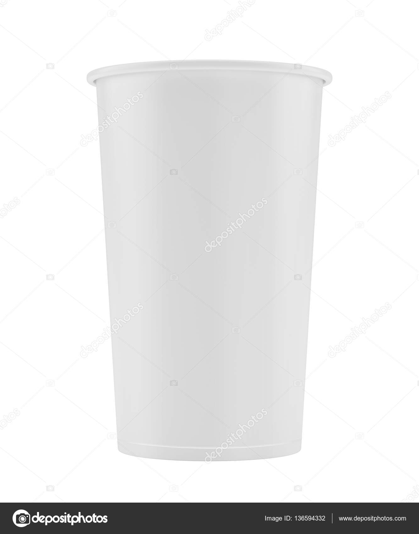 Empty white paper cup  3d rendering  — Stock Photo © mirexonlife