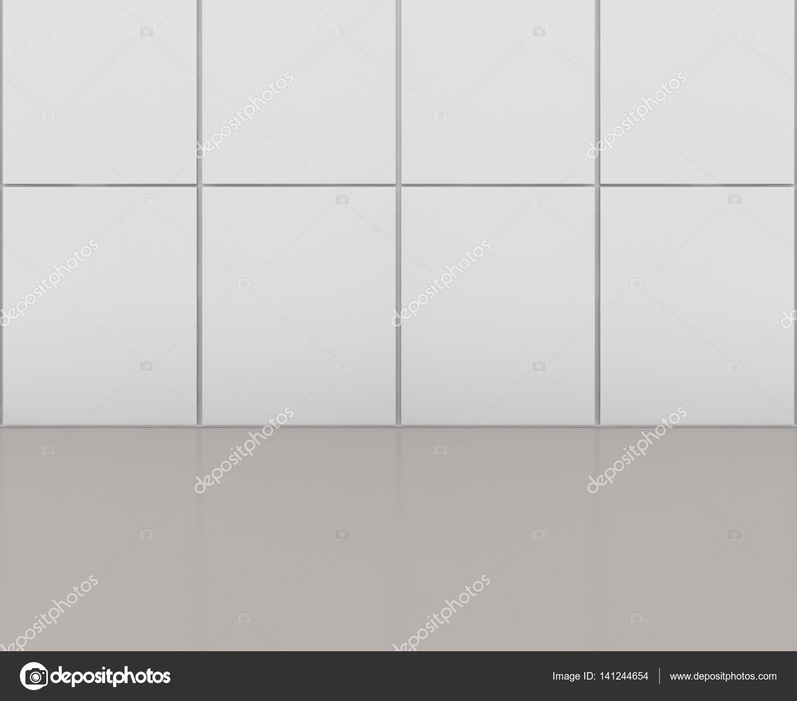 Weiße Fliesen Boden Und WandHintergrundrendering Stockfoto - Weiße fliesen verfugen