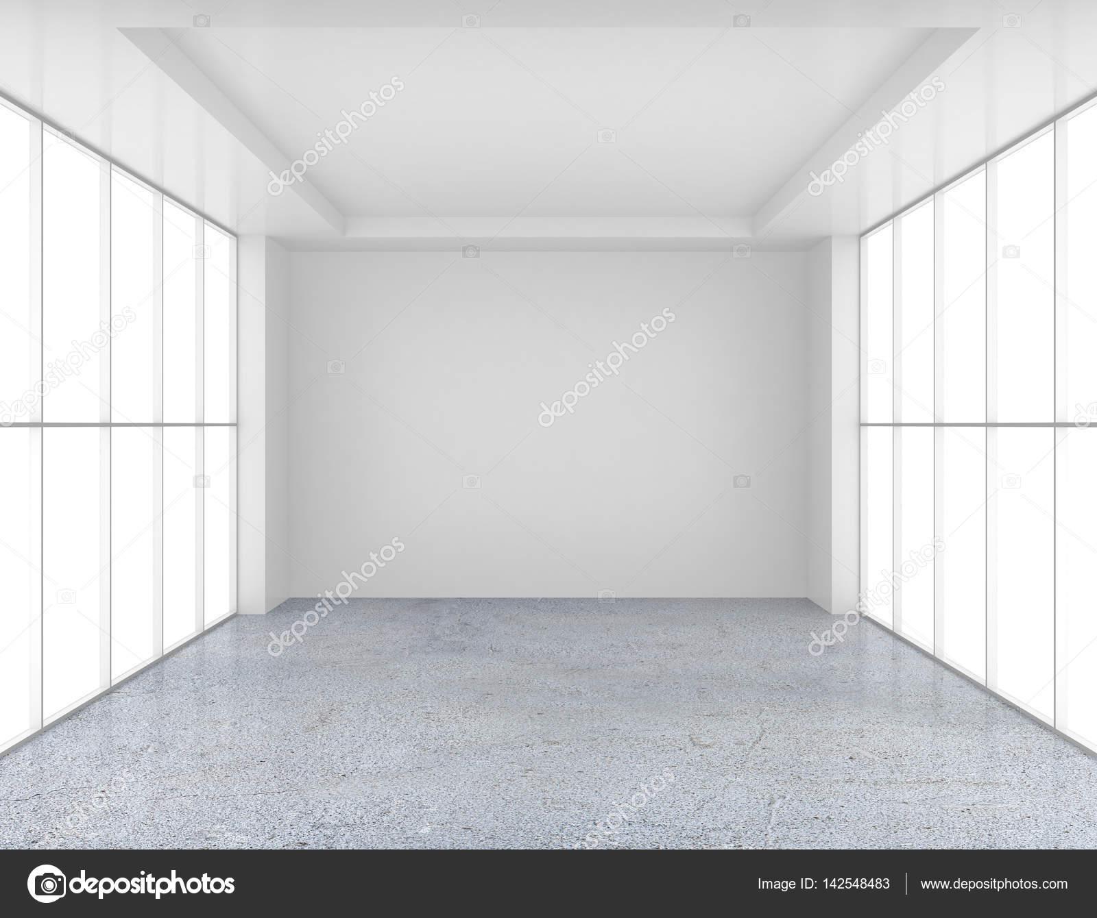 wei en leeren raum und betonboden 3d rendering stockfoto mirexonlife 142548483. Black Bedroom Furniture Sets. Home Design Ideas
