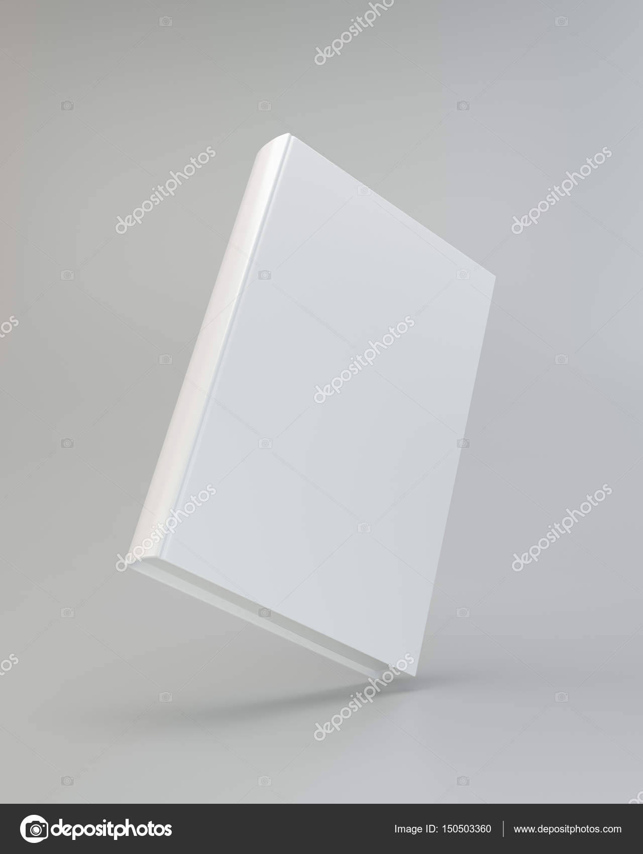 Blank vertical book cover template with pages. 3d rendering — Stock ...