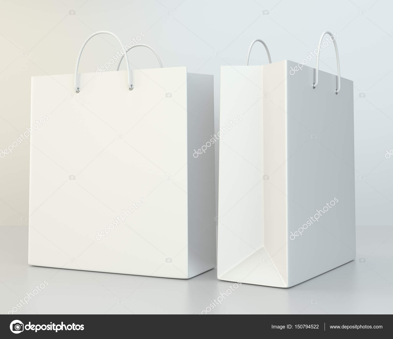 blank shopping paper bags template set — Stock Photo © mirexonlife ...