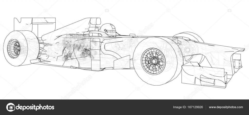 Modelos de coches de fórmula 1. Marco de alambre. Eps10 formato ...