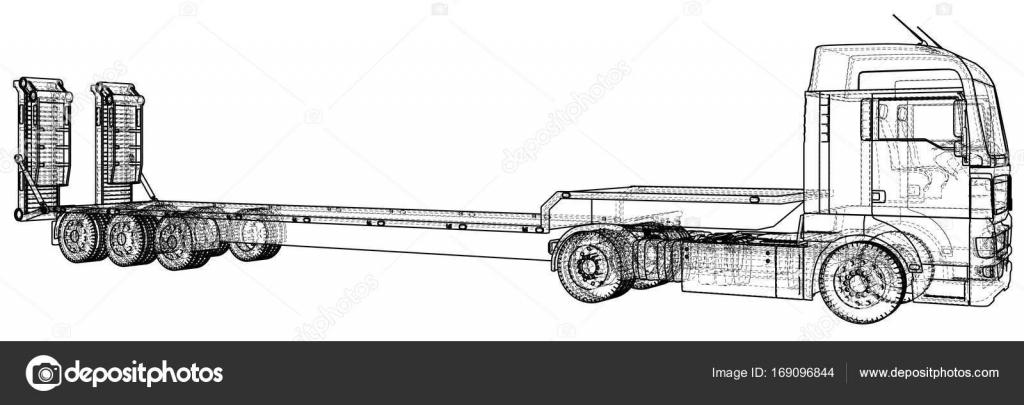 Bajo de la cama del carro del acoplado. Marco de alambre. Eps10 ...