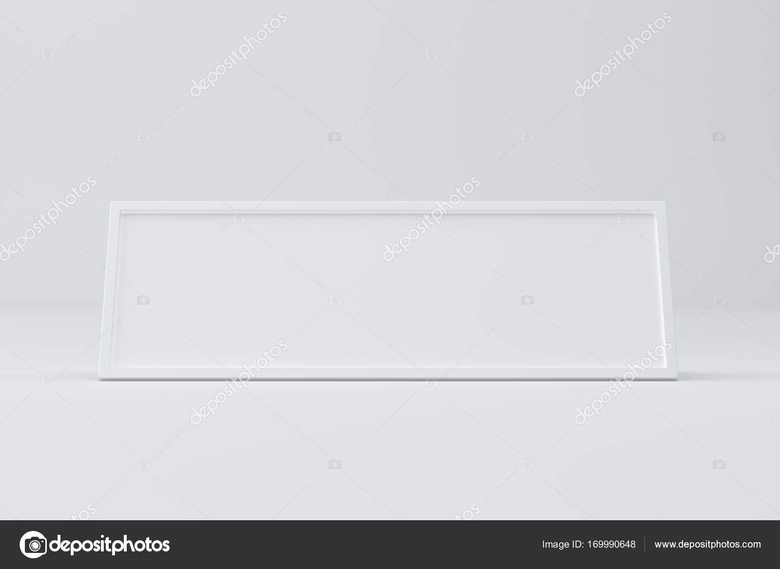 Leere Tabelle Karte, Schild-Vorlage. 3D-Rendering — Stockfoto ...