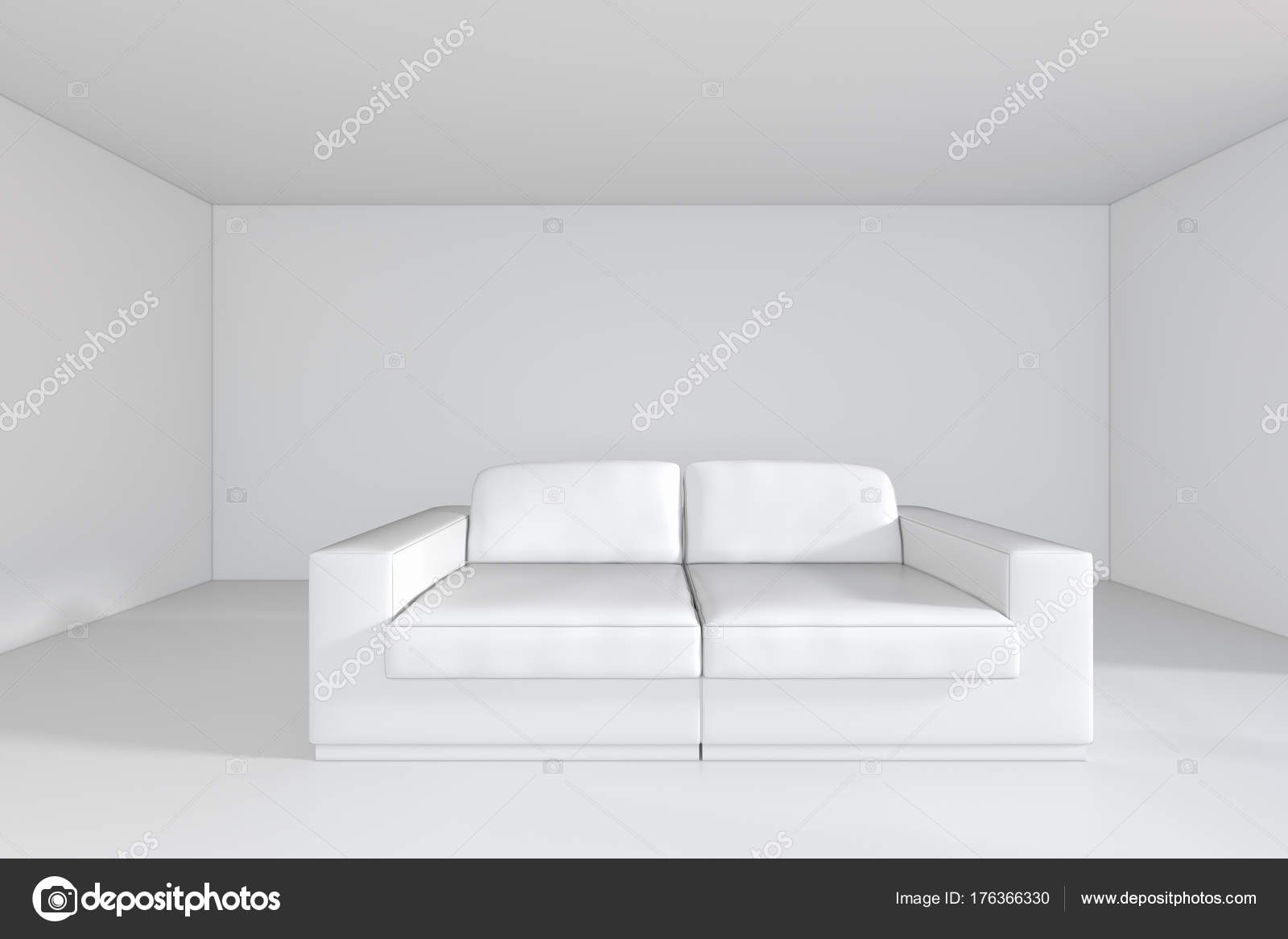 Amazing White Room With Sofa And Empty Background Wall 3D Rendering Gamerscity Chair Design For Home Gamerscityorg