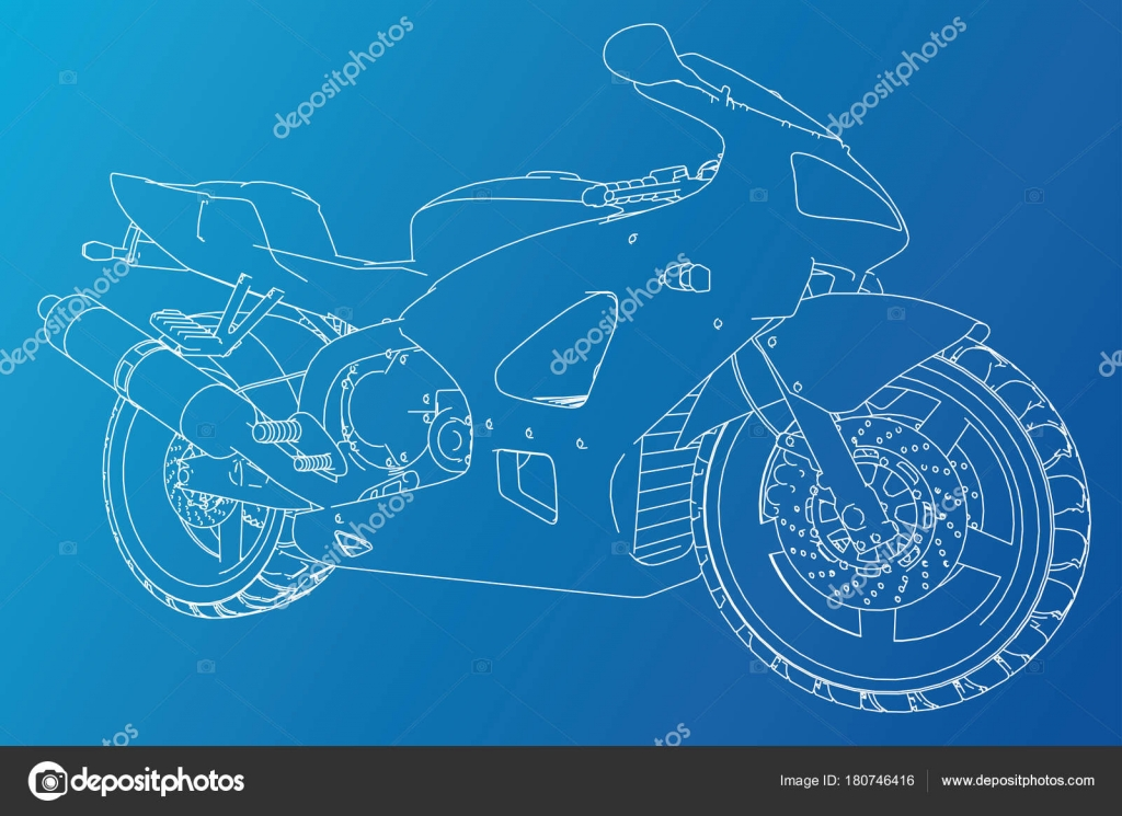 Blueprint sport bike eps10 format vector created of 3d stock blueprint sport bike eps10 format vector created of 3d stock vector malvernweather Image collections