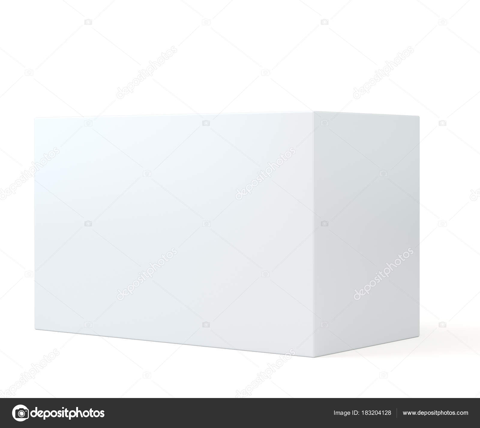white realistic rectangle box package mockup with shadow for your