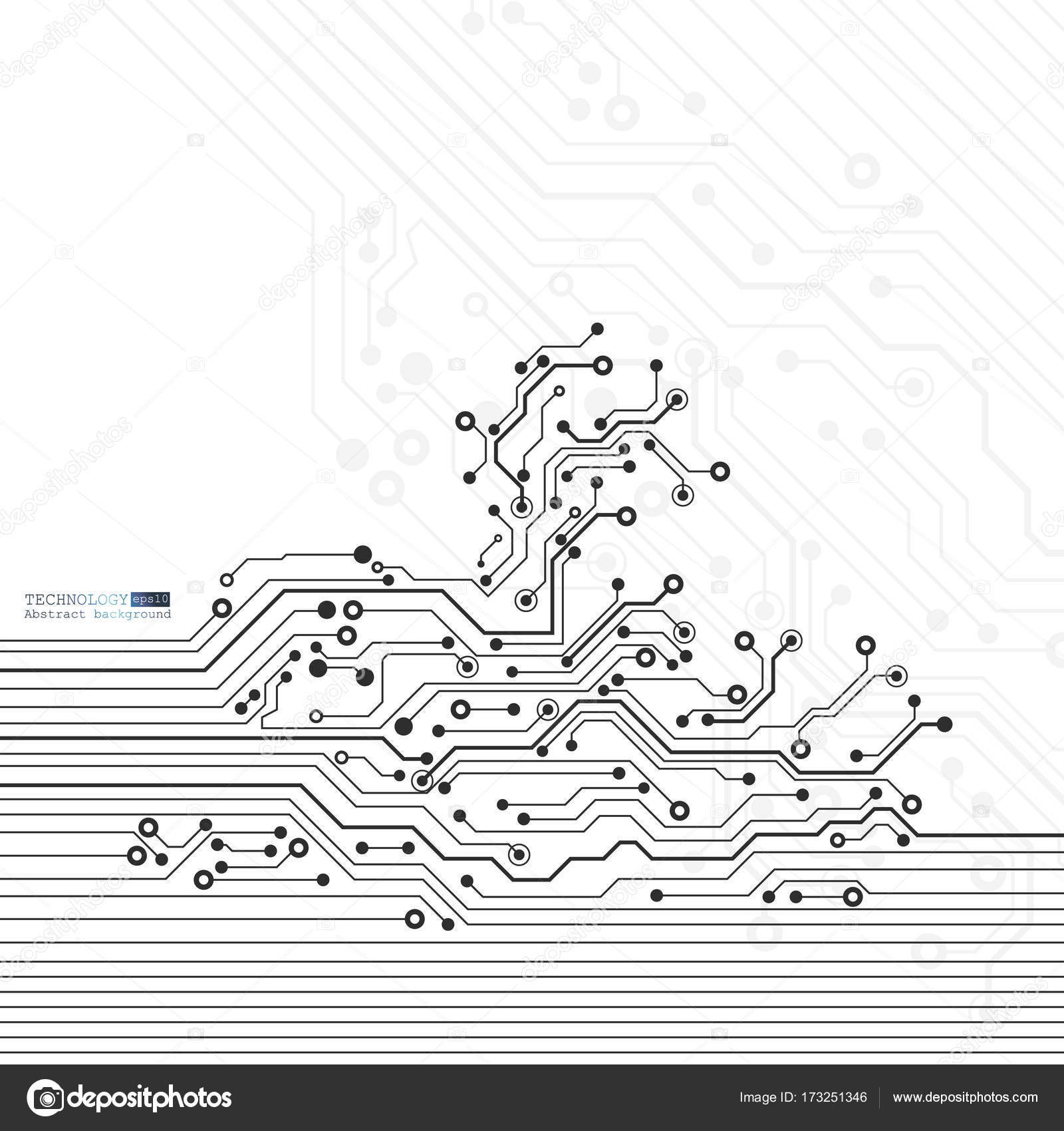 Vector circuit board illustration. Abstract technology — Stock ...