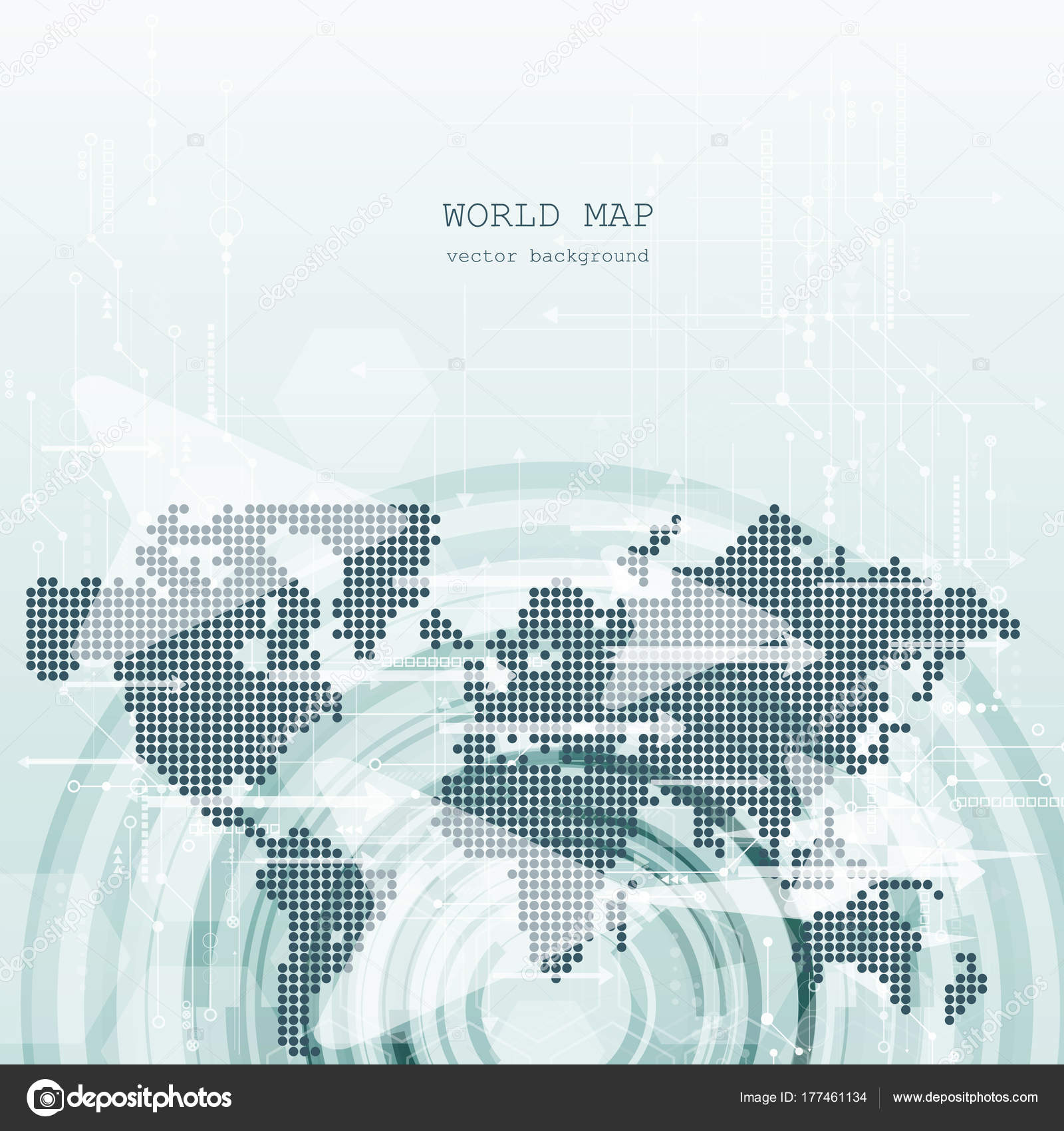 Global Network Connection World Map Technology Composition Concept ...
