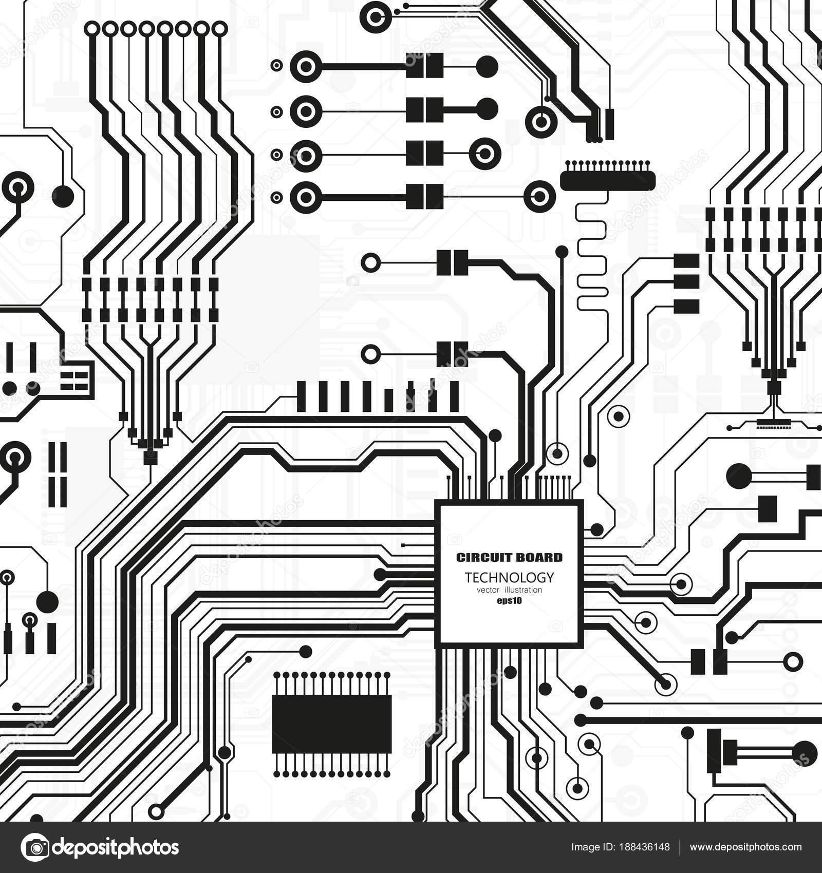 Vector Circuit Board Illustration Abstract Technology — Stock Vector ...