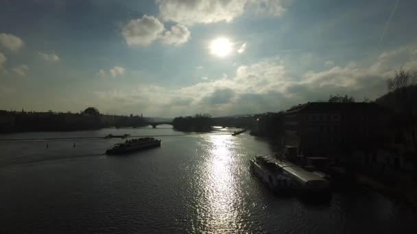 Krajina pohled z Karlova mostu v Praze