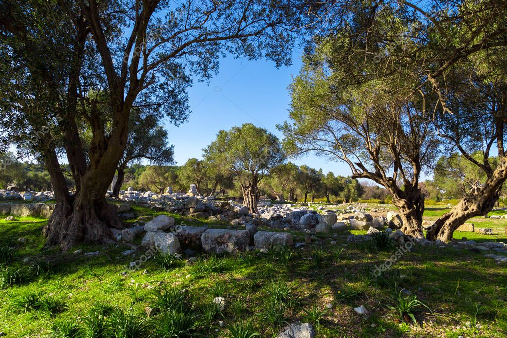 Ruins on Teos Ancient City