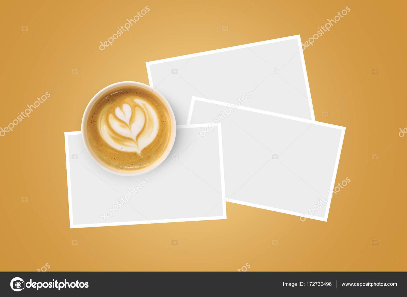 Geformte Tasse Kaffee mit Papprahmen — Stockfoto © niglaynike #172730496