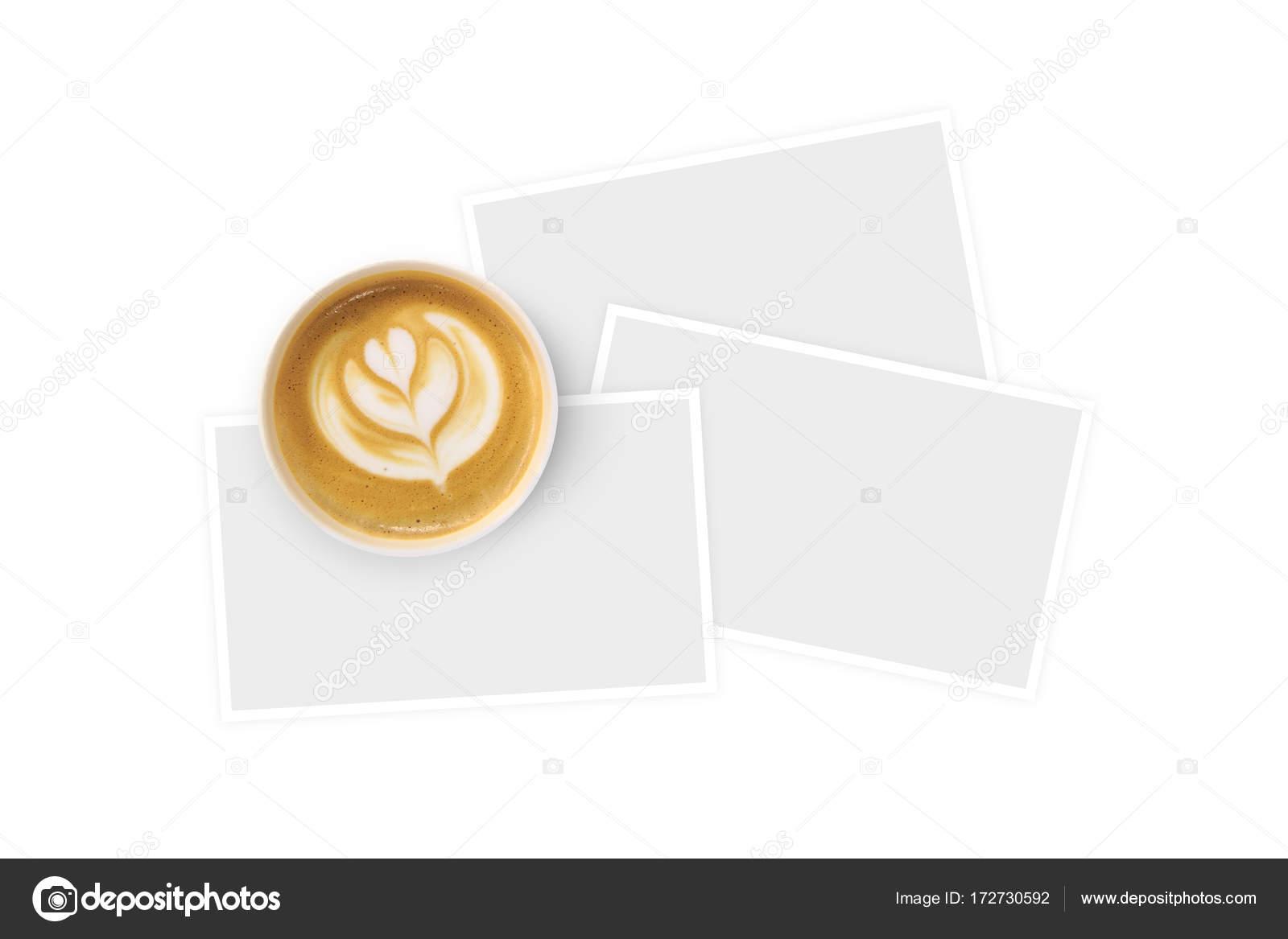 Geformte Tasse Kaffee mit Papprahmen — Stockfoto © niglaynike #172730592