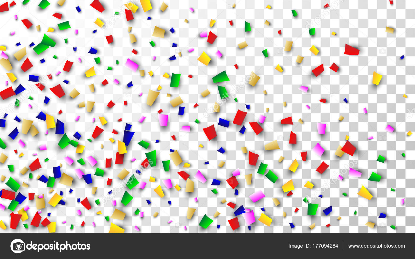 Celebration Confetti Background  Many Falling Confetti for
