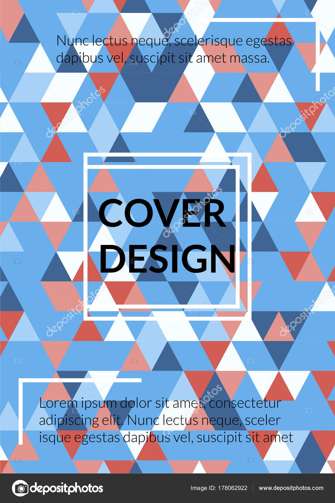Diseño de la cubierta del triángulo. Plantilla para negocios ...