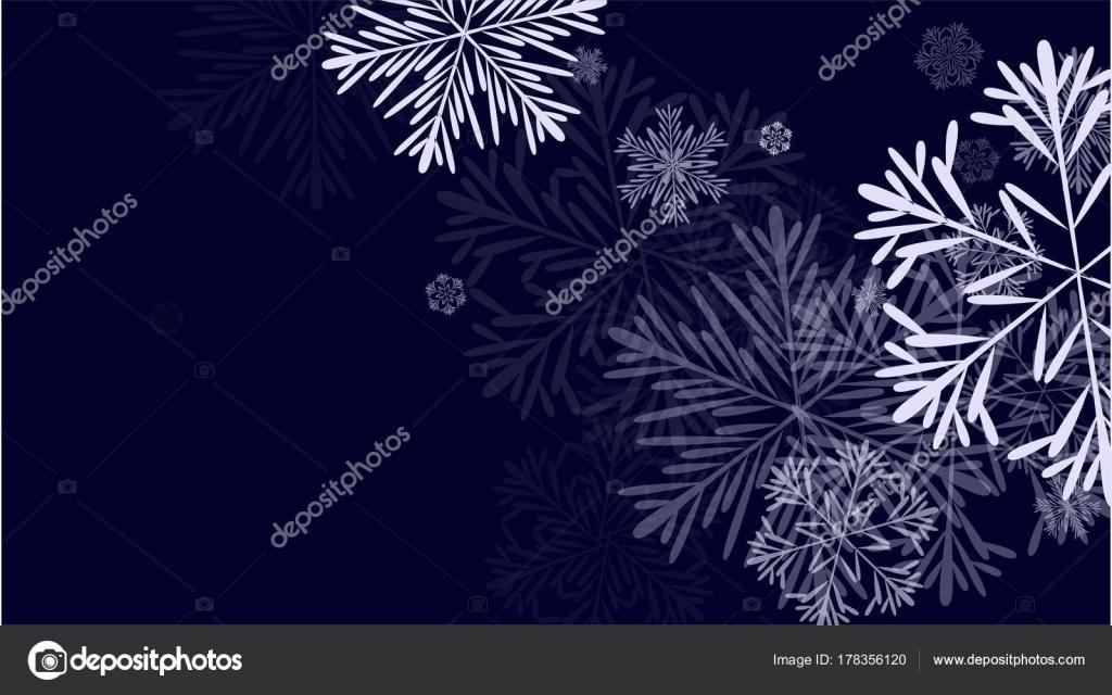 Beautiful Christmas Background Design.Beautiful Christmas Background With Falling Snowflakes