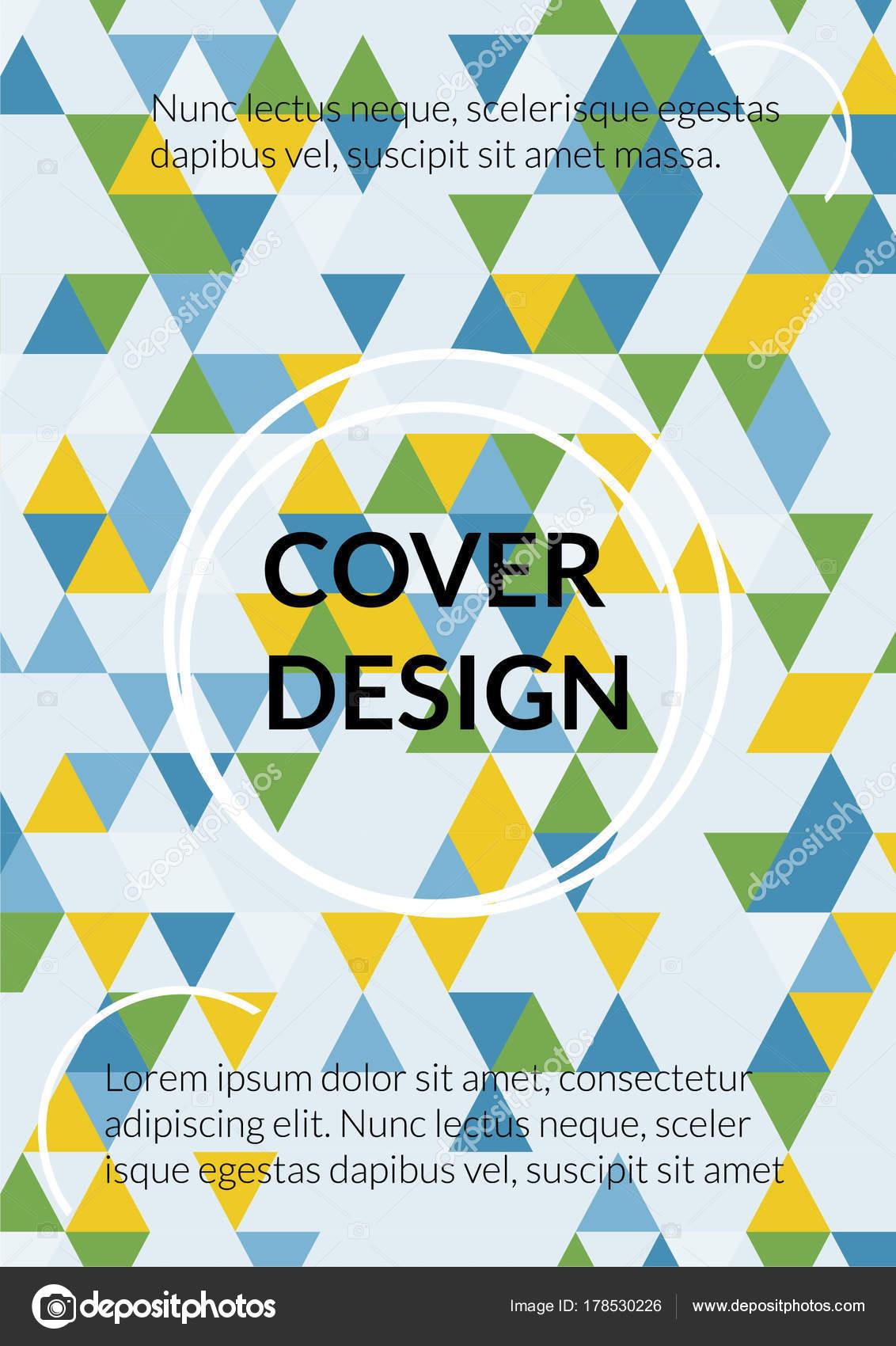 Dreieck-Cover-Design. Vorlage für Business Broschüre, Buch, Flyer ...