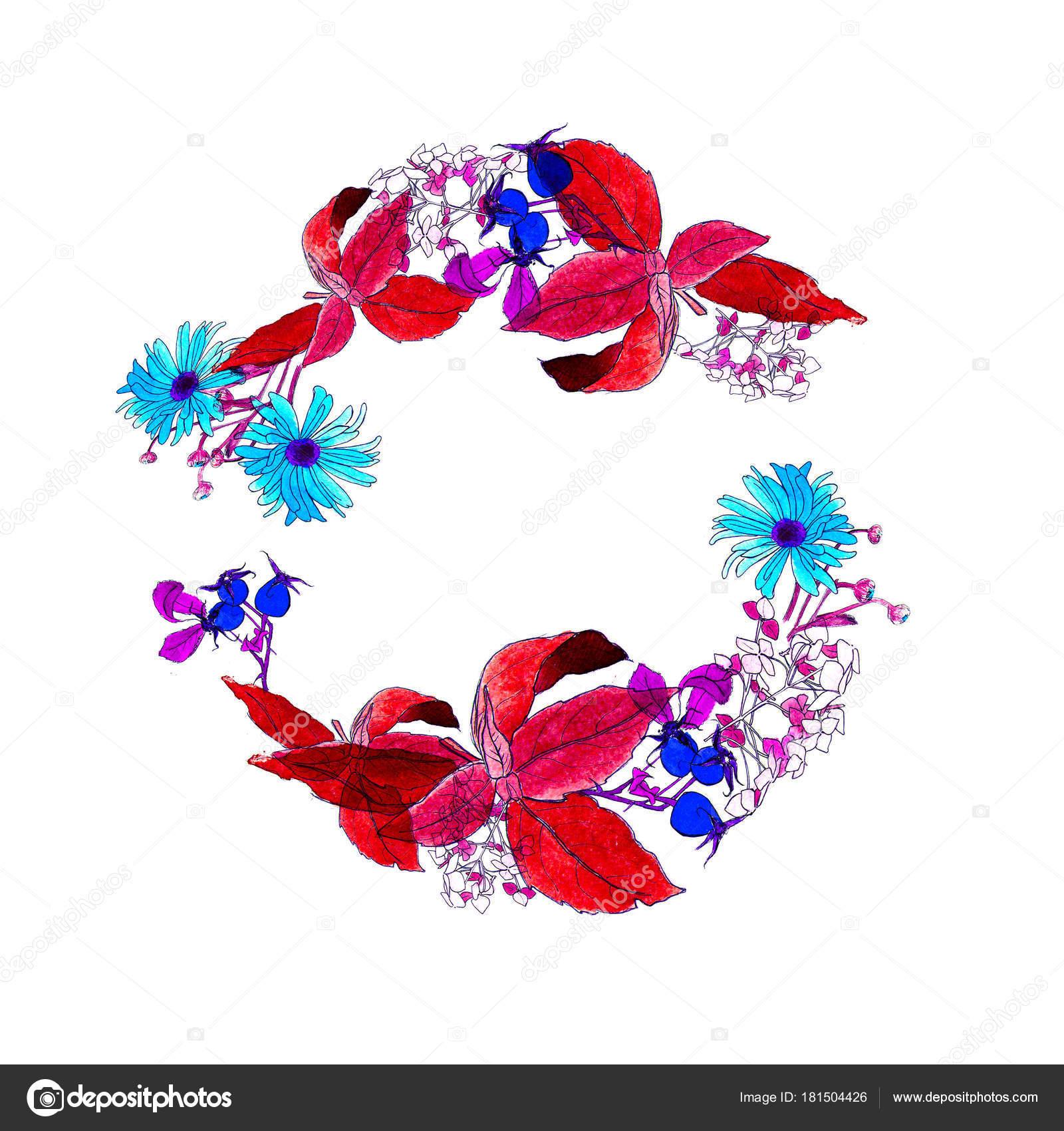 Wreath of Autumn Flower: Aster, Chrysanthemum, Hydrangea, Rose ships ...