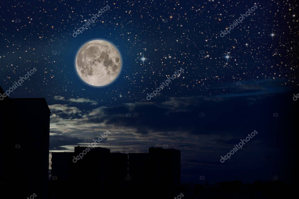Full moon and sky