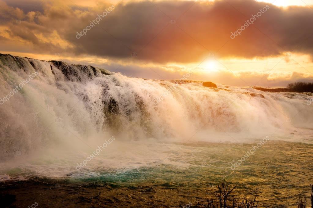 Фотообои Faxi Waterfal Icelandic scenery